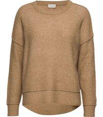 biagio stickad tröja brun by malene birger