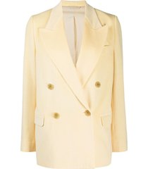 acne studios double-breasted corduroy blazer - yellow