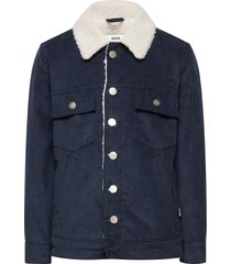 shepard cord shaggy outerwear jackets & coats denim & corduroy blauw mads nørgaard