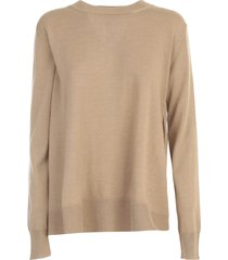 nuur round neck open sides 100% merino wool sweater