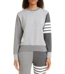 women's thom browne four-bar cotton sweatshirt