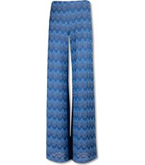 knitted zig zag sweatpants