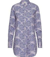 likarah overhemd met lange mouwen blauw by malene birger