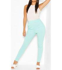 casual skinny broek met pastelzakjes, muntgroen
