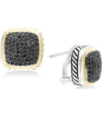 balissima by effy diamond two-tone stud earrings (7/8 ct. t.w.) in sterling silver & 18k gold
