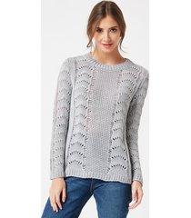 sweter o ażurowym wzorze