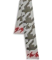 boss hugo boss men's alexander abstract-print wool-blend scarf