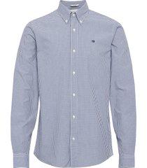 nos crispy poplin shirt relaxed fit button down collar overhemd casual blauw scotch & soda