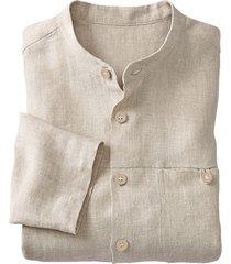 linnen overhemd 1/1-mouw, naturelwit l