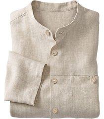 linnen overhemd 1/1-mouw, zand xl