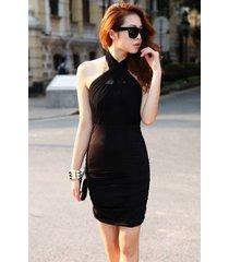 pf245 sexy magic wrinkled blouse w many ways of wearing,free size black