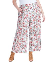 jessica simpson trendy plus size saydee printed pull-on pants