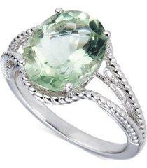 amethyst oval swirl ring (4 ct. t.w.) in sterling silver (also in blue topaz & green quartz)