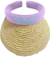 woman straw visor cap lilla