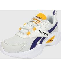 tenis lifestyle blanco-beige-morado-amarillo reebok royal ec ride 4,