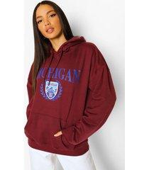 tall michigan collegiate hoodie, kastanjebruin