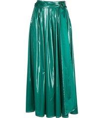 sies marjan belted long a-line skirt - green