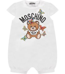 moschino white and yellow babygirl suit with teddy bear