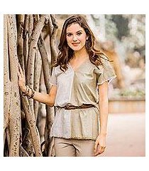 cotton tunic, 'duality' (india)