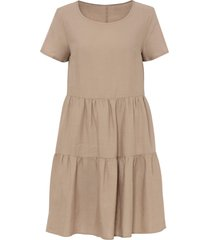 abito in misto lino con tencel™ lyocell (beige) - bodyflirt