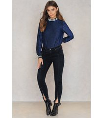 rut&circle hanne zip jeans - black