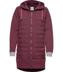 fære l hoodie gevoerde lange jas rood kari traa