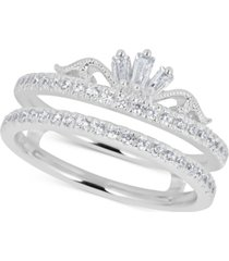 diamond double band tiara ring (1/2 ct. t.w.) in 14k white gold