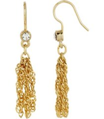 2028 women's 14k gold dipped tassel earring
