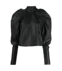 rotate blusa com mangas bufantes - preto