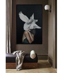 kobieta ptak - obraz lub plakat