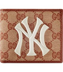 gucci original gg canvas wallet with new york yankees patch™ -