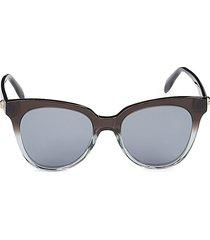 alexander mcqueen women's 53mm square sunglasses - grey