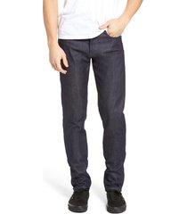 men's naked & famous super skinny guy skinny fit jeans, size 36 - blue