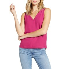 women's halogen raw edge tank, size medium - pink
