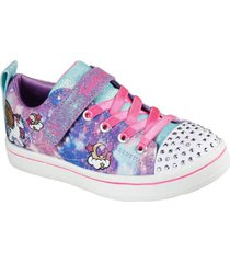 zapatilla morado sparkle rayz unicorn skechers