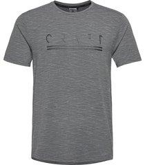 core sence ss tee m t-shirts short-sleeved grå craft
