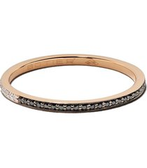 botier 18kt rose gold day and night diamond eternity ring - 18 ct.