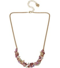 betsey johnson stone cluster necklace