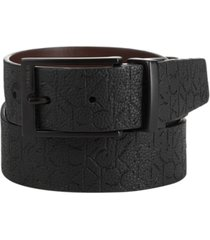 calvin klein men's logo leather belt