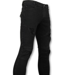 new stone biker jeans zwart