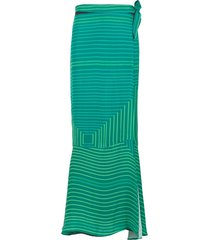 amir slama long printed skirt - green