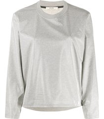 zilver aqua crew-neck sweatshirt - grey