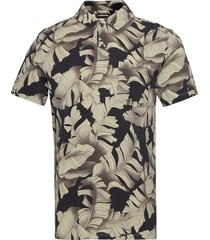 brand printed polo shirt polos short-sleeved brun j. lindeberg