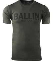 ballin est. 2013 heren t-shirt regular fit kaki