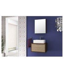 conjunto banheiro suspenso compacto mdf 60cm lilies móveis