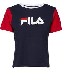 women salome tee t-shirts & tops short-sleeved blå fila