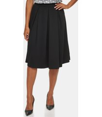 calvin klein pleated a-line midi skirt