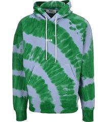 msgm hoodie tie dye