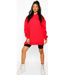 extreme oversized hoodie, red