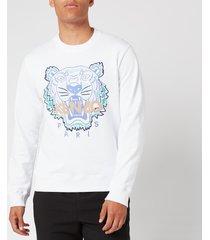 kenzo men's actua tiger sweatshirt - white - l